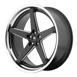 ADVENTUS AVS-2 22x10.5 5x120.00 MATTE BLACK MILLED W/ SS LIP (38 mm)