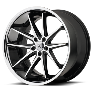 ASANTI ALTAIR 22x9 5x115.00 MACHINED FACE W/ SS LIP (15 mm)
