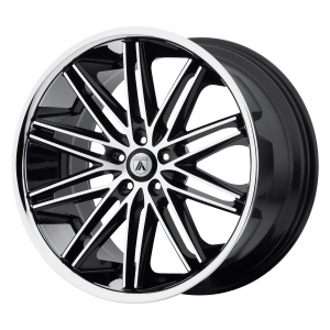 ASANTI POLLUX 22x9 5x120.00 MACHINED FACE W/ SS LIP (15 mm)