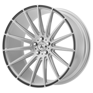 ASANTI POLARIS 20x9 5x120.00 BRUSHED SILVER W/ CARBON FIBER INSERTS (35 mm)