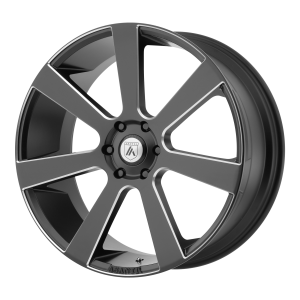 ASANTI APOLLO 28x10 6x139.70 SATIN BLACK MILLED (15 mm)