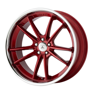 ASANTI DELTA 22x9 5x120.00 CANDY RED W/ CHROME LIP (32 mm)