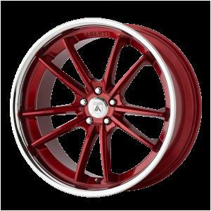 ASANTI DELTA 22x9 5x120.00 CANDY RED W/ CHROME LIP (32 mm)
