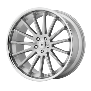 ASANTI BETA 24x9 5x120.00 BRUSHED SILVER W/ CHROME LIP (32 mm)