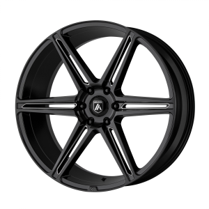 ASANTI ALPHA 6 24x10 6x139.70 GLOSS BLACK MILLED (30 mm)