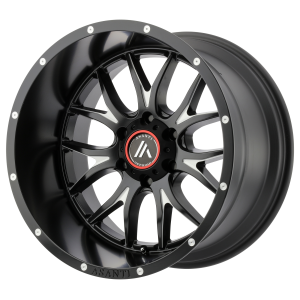 ASANTI CARBINE 20x12 6x139.70 SATIN BLACK MILLED (-44 mm)  AB807-20126844NBM