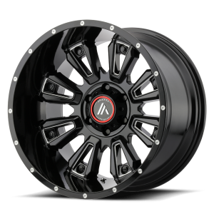 ASANTI BLACKHAWK 20x12 8x165.10 GLOSS BLACK MILLED (-44 mm)