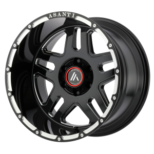 ASANTI ENFORCER 22x10 8x170.00 GLOSS BLACK MILLED (-18 mm)  AB809-22108718NGM