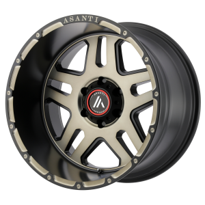 ASANTI ENFORCER 20x12 8x180.00 MATTE BLACK MACHINED W/ TINTED CLEAR (-44 mm)