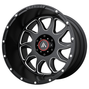 ASANTI BALLISTIC 22x12 8x180.00 GLOSS BLACK MILLED (-44 mm)