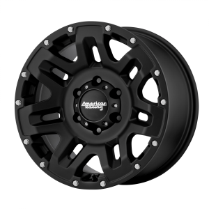 AMERICAN RACING YUKON 18x8.5 8x180.00 CAST IRON BLACK (15 mm)