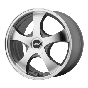 AMERICAN RACING AR895 14x6 5x100.00/5x114.30 DARK SILVER W/ MACHINED FACE (35 mm)
