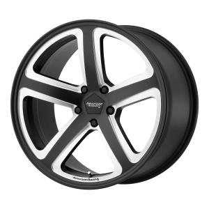 AMERICAN RACING HOT LAP 18x8 5x120.00 SATIN BLACK MILLED (38 mm)