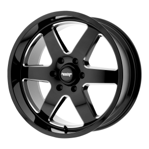 AMERICAN RACING PATROL 18x9 8x180.00 GLOSS BLACK MILLED (12 mm)