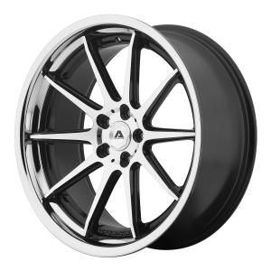 ADVENTUS AVS-4 20x8.5 5x112.00 GLOSS BLACK MACHINED W/ SS LIP (38 mm)  AVS4-20855638MS