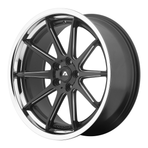 ADVENTUS AVS-4 22x10.5 5x120.00 SATIN BLACK MILLED W/ SS LIP (25 mm)