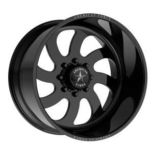 AMERICAN FORCE BLADE SS 22x10 8x180.00 GLOSS BLACK - LEFT DIRECTIONAL (25 mm)
