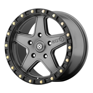 ATX RAVINE 20x10 5x127.00 MATTE GRAY W/ BLACK RING (-24 mm)  AX19421050424N