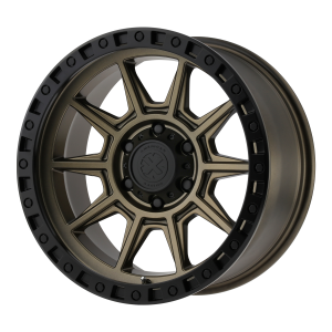 ATX AX202 18x9 8x180.00 MATTE BRONZE W/ BLACK LIP (0 mm)