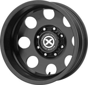 ATX BAJA DUALLY 17x6.5 8x210.00 SATIN BLACK - REAR (-140 mm)
