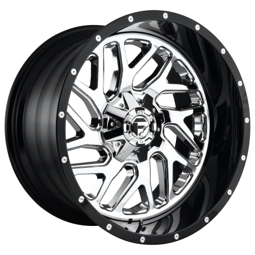 FUEL TRITON 22x10 8x180.00 CHROME PLATED GLOSS BLACK LIP (-13 mm)  D21122001850