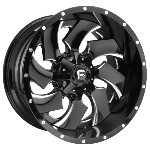 FUEL CLEAVER 22x12 6x135.00/6x139.70 GLOSS BLACK MILLED (-44 mm)  D23922209847