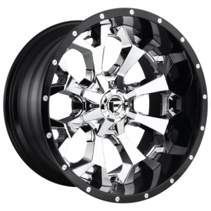 FUEL ASSAULT 20x12 8x165.10 CHROME PLATED GLOSS BLACK LIP (-43 mm)  D24620208247