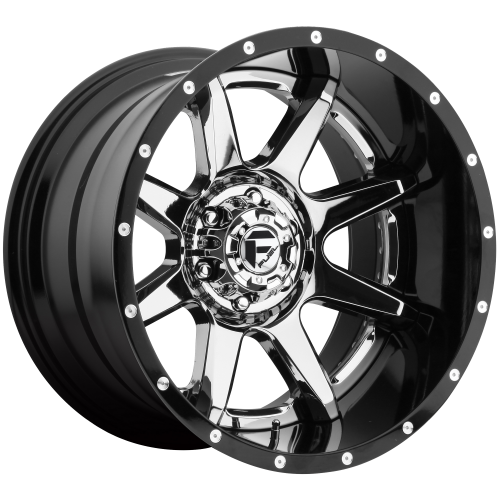 FUEL RAMPAGE 20x10 8x180.00 CHROME PLATED GLOSS BLACK LIP (-19 mm)  D24720001847