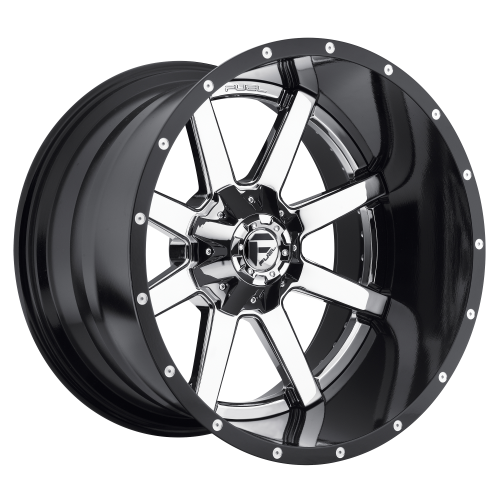FUEL MAVERICK 24x16 6x135.00/6x139.70 CHROME PLATED GLOSS BLACK LIP (-100 mm)  D26024609845