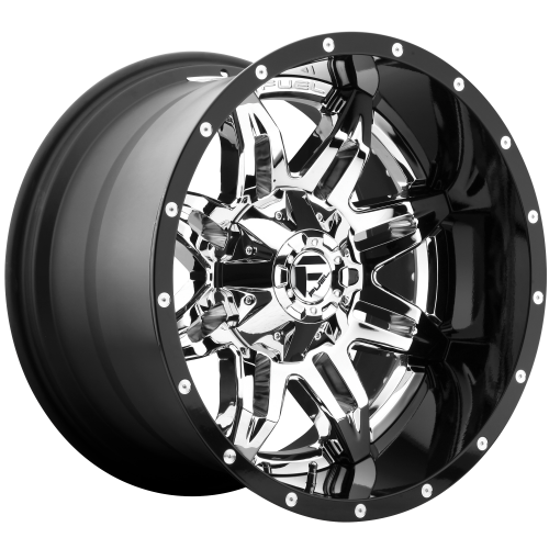 FUEL LETHAL 20x10 8x180.00 CHROME PLATED GLOSS BLACK LIP (-19 mm)