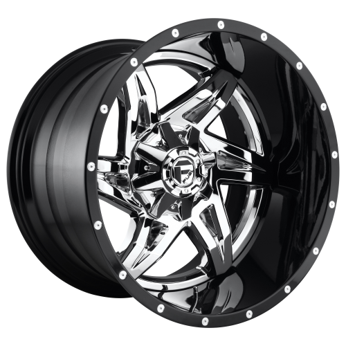 FUEL ROCKER 22x14 6x135.00/6x139.70 CHROME PLATED GLOSS BLACK LIP (-70 mm)  D27222409847