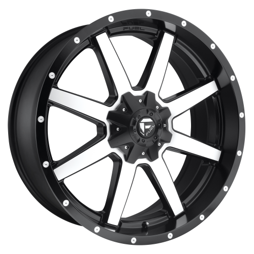FUEL MAVERICK 22x10 6x135.00/6x139.70 MATTE BLACK MACHINED (-24 mm)  D53722009845