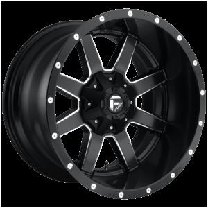 FUEL MAVERICK 24x8.25 8x170.00 MATTE BLACK MILLED (-176 mm)  D53824821725