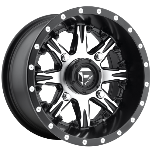 FUEL NUTZ UTV 14x7 4x156.00 MATTE BLACK MACHINED (13 mm)  D5411470A544