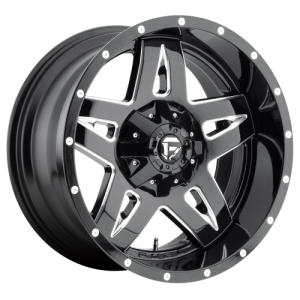 FUEL FULL BLOWN 20x10 8x165.10 GLOSS BLACK MILLED (-12 mm)  D55420008250