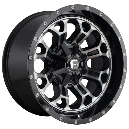 FUEL CRUSH 18x9 5x114.30/5x127.00 GLOSS MACHINED DOUBLE DARK TINT (1 mm)  D56118902650