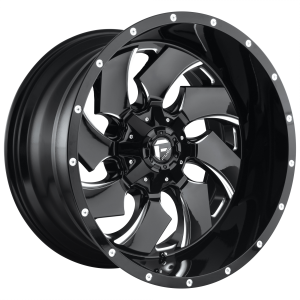FUEL CLEAVER 20x8.25 8x210.00 GLOSS BLACK MILLED (-246 mm)