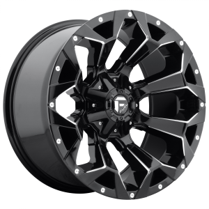 FUEL ASSAULT 20x10 8x165.10 GLOSS BLACK MILLED (-18 mm)  D57620008247