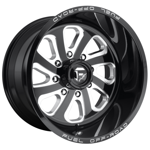 FUEL FLOW 20x10 8x180.00 GLOSS BLACK MILLED (-18 mm)