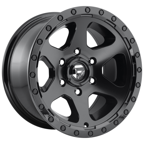 FUEL RIPPER 20x9 6x139.70 MATTE BLACK GLOSS BLACK LIP (20 mm)