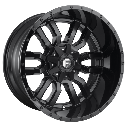 FUEL SLEDGE 18x8 5x110.00/5x127.00 MATTE BLACK GLOSS BLACK LIP (35 mm)  D5961880C159