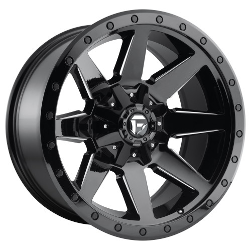 FUEL WILDCAT 20x9 8x165.10 GLOSS BLACK MILLED (1 mm)  D59720908250