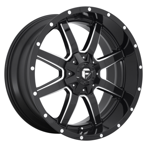 FUEL MAVERICK 22x12 8x170.00 GLOSS BLACK MILLED (-44 mm)  D61022201747