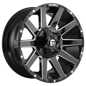 FUEL CONTRA 24x12 5x127.00/5x139.70 GLOSS BLACK MILLED (-44 mm)  D61524205747