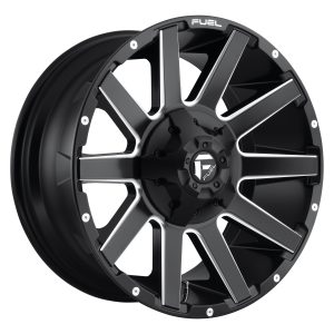 FUEL CONTRA 22x12 6x135.00/6x139.70 MATTE BLACK MILLED (-43 mm)  D61622209846