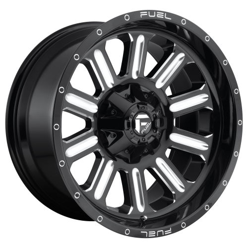 FUEL HARDLINE 20x9 6x135.00/6x139.70 GLOSS BLACK MILLED (2 mm)  D62020909849