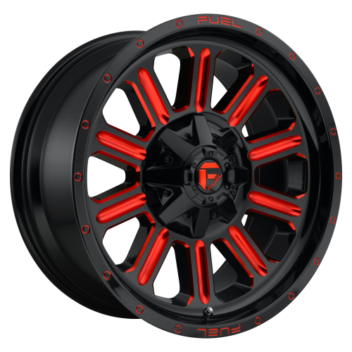 FUEL HARDLINE 20x9 8x180.00 GLOSS BLACK RED TINTED CLEAR (20 mm)  D62120901857