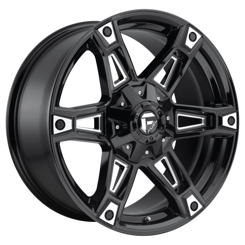 FUEL DAKAR 20x9 5x114.30/5x127.00 GLOSS BLACK MILLED (1 mm)  D62220902650