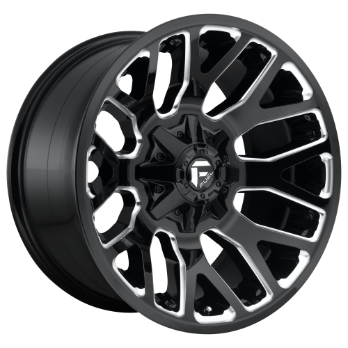 FUEL WARRIOR 20x9 5x114.30/5x127.00 GLOSS BLACK MILLED (20 mm)  D62320902657