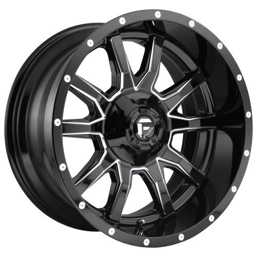 FUEL VANDAL 20x12 8x165.10 GLOSS BLACK MILLED (-43 mm)  D62720208247